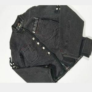 Emily Goth Grunge Denim Distressed Jacket
